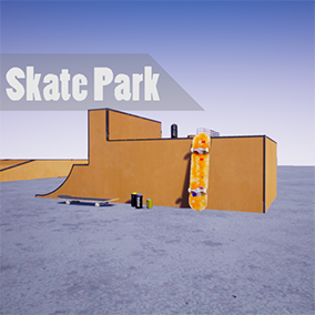 The Skate Park pack is a set of 60+ assets, to create your skate park