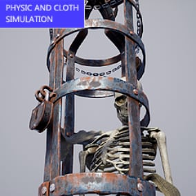 High quality skeletons with physical and cloth simulation.