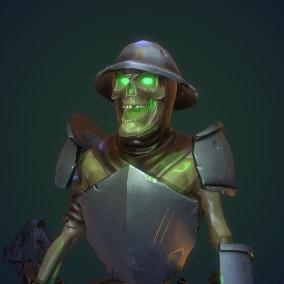 Low poly Skeleton grade 1