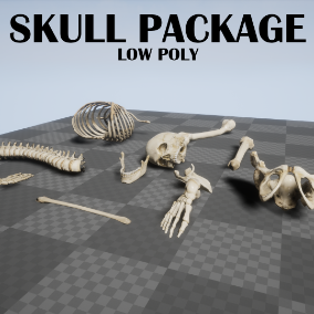 Skulls and Bones is a pack that you can use for adding extra details in your game. Very easy to use, just drag and drop in your scene.