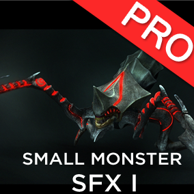 The Small Monsters / Creatures SFX 1 sound effects pack features 14 high quality sounds