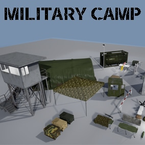 High quality assets to make a small military base