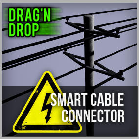 The perfect system for connecting power poles with cables in seconds! Beginner friendly, easy, drag'n drop, automatic cables.