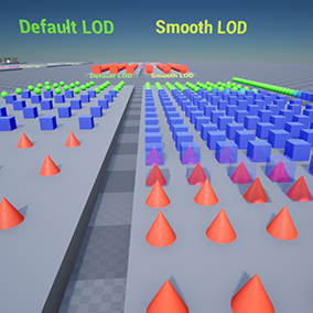 The plugin allows to create a smooth transition between mesh LODs