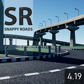 Lets you quickly snap together a spline based road network.