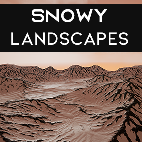 Snowy Landscapes provides you with amazing 64sq. km landscapes for any open world project