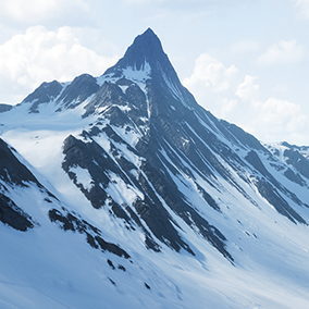 Snowy Mountains Landscape v2.0 is a 64 Square Kilometers landscape, taking you right into the middle of a freezing mountais.