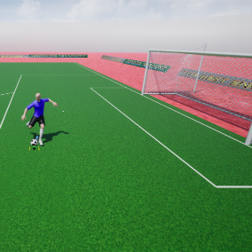 Feel the Power of a Player Controlling the Ball, the Ball has its own Physics in Real Time, and Own Direction, Use Gamepad or Keyboard to Control.