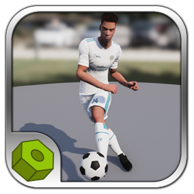 Detailed low-poly soccer player model