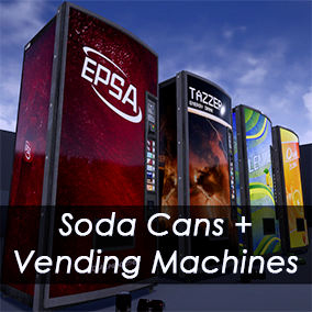 KSS Soda Can + Vending Machine Pack