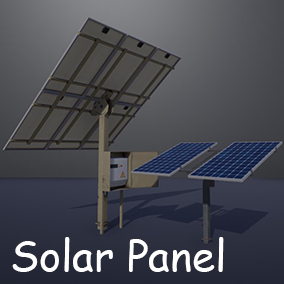 Solar panels with four options.