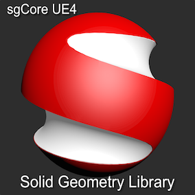 Solid Geometry Library with functions for runtime Boolean operations, building Surfaces and Solid objects. This is UE4 port of sgCore - popular library of Solid Geometry Calculations.