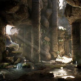 One of two free environment packs containing content built for the 2014 Soul demo, Soul: Cave is a collection of high-quality rock and water props, materials and textures optimized for mobile platforms.