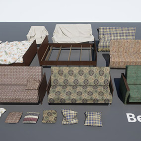Pack includes sofas, bed, and chairs according to real Russian standards.