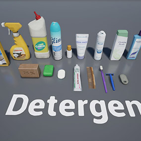 Detergents, cleaners, soap.