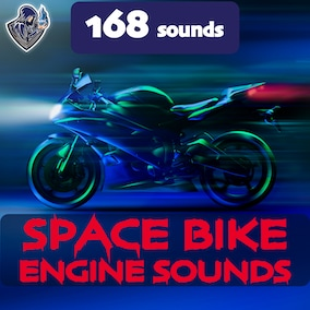 The package of futuristic motorbike engine sounds, including 168 high-quality sound effects, 8 kinds of vehicle. Perfect for space and sci-fi small-sized vehicles.