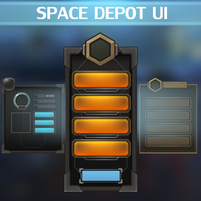 Space Depot UI is a complete art set of UI components, icons, buttons.