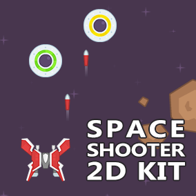 The Space Shooter 2D Kit is an easy to use template for creating top down space shooter type of games in 2D! The template is created using Blueprints, is fully documented and allows easy customization.