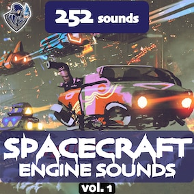 A collection of many variations of spacecraft engine sounds, designed in a futuristic style, including 252 high-quality sound effects, 12 spacecrafts.