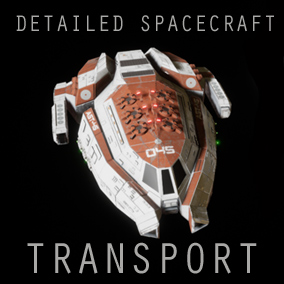 Spaceship Transport  with 4 Unique color variations and Landing Struts