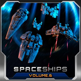 Assemble your Starfleet with 4 High Quality Spaceships! Colored for your RTS Games & Space Sims!