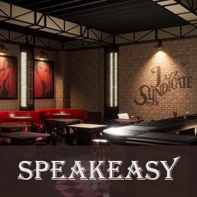 Jazz Syndicate Modular Speakeasy Bar: This pack contains everything you need to create your own speakeasy bar.