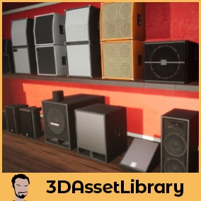 Speakers and cabinets for unreal Engine is a great selection of 19 unique speakers used for example in music studios, TV, concerts and broadcast studios for Unreal 4.20+
