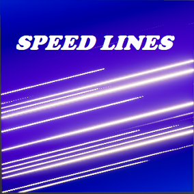 Use this asset to create speed lines like the ones you see in anime and comics. Also use it to make speed lines on screen for racing games or fast locomotion.
