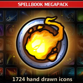 A set of 1724 hand drawn SpellBook Megapack.