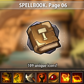 Set of 109 hand drawn spell icons.
