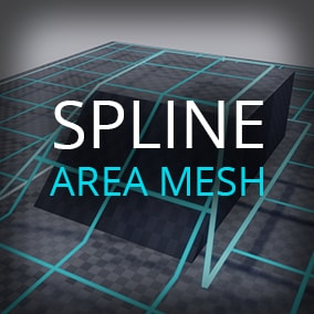 Procedural mesh area based on spline component