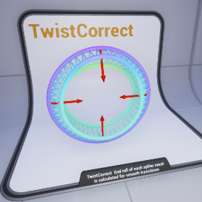 Function library to remove twisting from splines and spline mesh components.