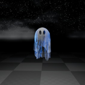 Ghostly Character With Cloth Simulations - Bedsheet Ghost