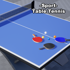 High quality customizable table tennis assets for your product