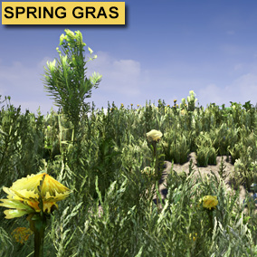 SpringGrasSet incling 87 objects Referencing a single texture Atlas