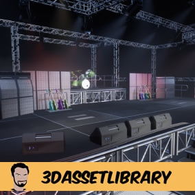 Stage Vol 1 allows you to create the core foundations of a concert stage with over 40 unique assets!