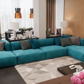 Realistic apartment in modern design