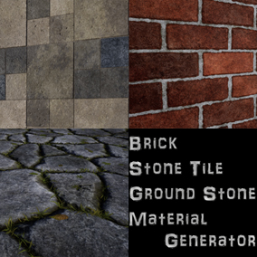 Three Materials Generator(Brick, Stone Ground, Stone Tile), sbsar