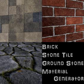 Three Materials Generator(Brick, Stone Ground, Stone Tile)