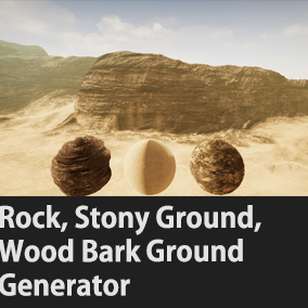 Three Materials(Rock, Stony_Ground, Wood_Bark_Ground) Landscape