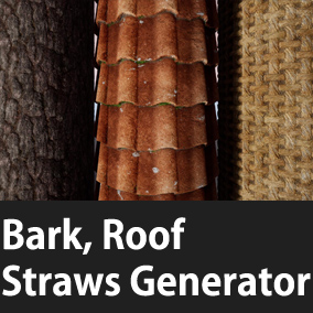 Three Materials Generator(Bark , Roof , Straws)