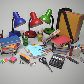 Large stationery asset, which includes 45 unique objects
