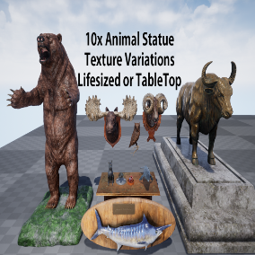 Life sized statues or table top props.