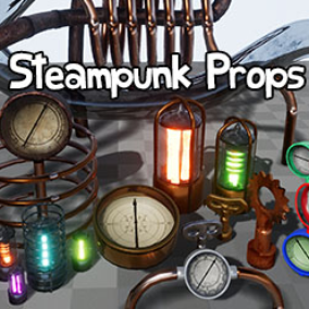 A set of extremely versatile Props to spice up any project. Includes Versatile Blueprints with functional Compass, Spline pipes and more.