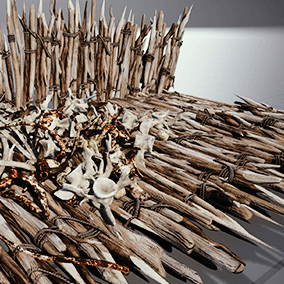 A collection of various game-ready bones and wooden spikes. This project includes 27 separate meshes with custom collision and LODs along with 4 customizable materials.