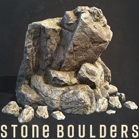 This package includes 10 different models of Boulders, Textured for PBR.
