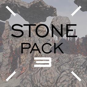 Stones of the lava rock