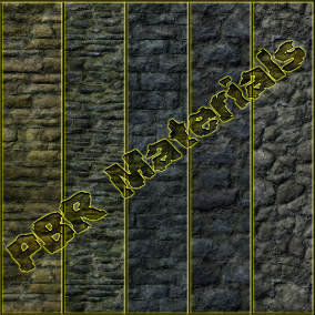 PBR material with high resolution (4096x4096): Stone Wall materials consisting of 24 units.