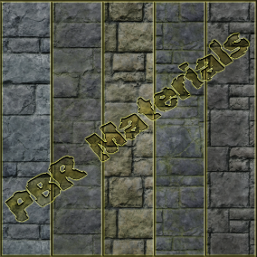 PBR material with high resolution (4096x4096): Stone Wall materials consisting of 20 units.