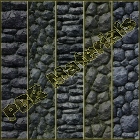 PBR material with high resolution (4096x4096): Stone Wall materials consisting of 30 units.